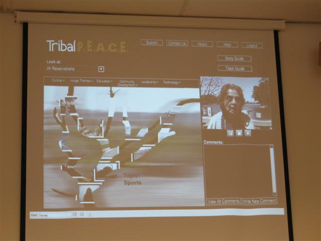 The interface for the tribalpeace program